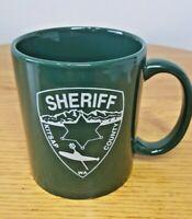 Kitsap County WA Sheriff Green Coffee Mug Ceramic TIP Teamwork Integrity Police