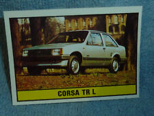 Cromos nº 165 imagen sticker auto 2000 corsa tr L Panini 1985