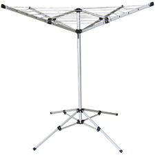 4 ARM ROTARY CLOTHES AIRER FREESTANDING WASHING LINE PORTABLE ALUMINIUM CAMPING