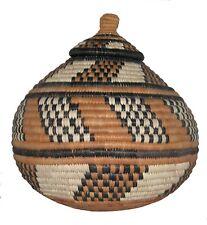 South African Zulu Basket Ukhamba Ilala Fair Trade Crossroads Handmade Eco Palm