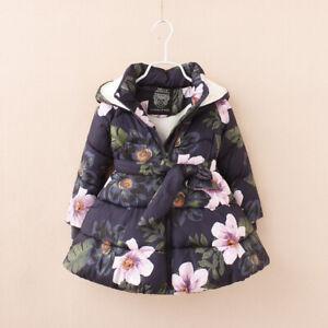 TOP Kinder Mädchen Herbst Frühling Winter Jacke mit Kapuze Baumwolle NEU BC797
