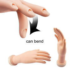 Flexible Soft Plastic Flectional Mannequin Model Hand Nail Art Practice bdusa