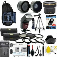 CANON REBEL T5i T4i T3i DIGITAL SLR CAMERA EVERYTHING YOU NEED HD ACCESSORY KIT