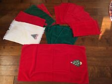 Lot Of 15 Christmas Hand Towels Decorative Red Green White Bathroom Kitchen