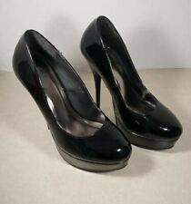 Charlotte Russe Black Patent Leather Apprearance Heels Shoes Size 7