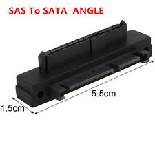 90 Degree Angle SFF-848 SAS 22 Pin to 7+15 Pin SATA HDD Hard Drive Adapter