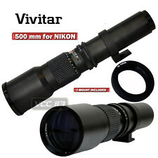 VIVITAR 500MM TELEPHOTO F8.0 LENS FOR NIKON D3300 D5300 D5200 D610 D7100 D7000
