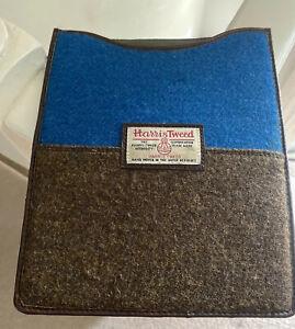 Vintage Harris Tweed Emvelop Case For Ipad. Blue/Brown