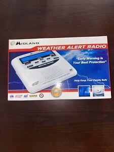 Midland WR120EZ NOAA Emergency Weather Alert Radio/Alarm Clock New in Box