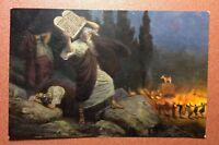 Tsarist Russia postcard 1910s Judaic Oppression slavery Jews Egypt. Orgy Bonfire