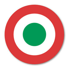 2 X ITALIAN ROUNDEL CIRCLE CAR VAN LORRY VINYL SELF ADHESIVE STICKERS
