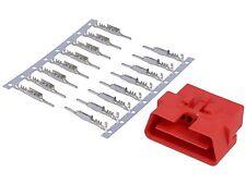 OBD II Diagnose Stecker OBD2 16-polig Kontakte Pins Set Buchse Ersatz Reparatur
