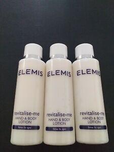 3 x Elemis 50ML Revitalise-me Hand & Body Lotion TRAVEL GIFT SIZE NEW UK SELLER