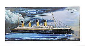 "RMS Titanic Ocean Liner 3D Metal Model Painting 47"" White Star Line Cruise Ship"