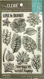HERO ARTS CLEAR STAMPS ~COLOR LAYERING TROPICAL FLOWERS CODE CM372