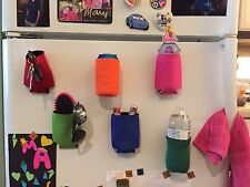 6 Magnetic Koozies Coozies Can Holders Golf, Tailgate, BBQ, Beer, Holiday Gift