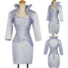 New Mother of The Bride Groom Outfit Wedding Party Dress Formal Suit Free Jacket