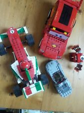LEGO Lot..Lightening Mc Queen Disney Pixar. Drag racer. Stock car and 2 monsters