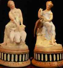 PAIR OF RUSSIAN IMPERIAL PORCELAIN FIGURINES BY SABANIN