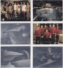 STAR TREK SKYBOX 1993 VIDEO TAPE MOVIES PROMO SET *RARE* 1OF6 THRU 6OF6 HOLOGRAM