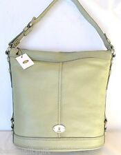 NEW FOSSIL MADDOX BUCKET LIGHT SAGE LEATHER TOTE,HAND+SHOULDER BAG,PURSE