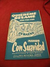 Spartito Quiereme Besame Cha Cha Cha Con Suavidad Mambo Betancourt