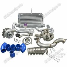 CXRacing T3 Turbo Intercooler kit Top Mount + Downpipe For Corolla AE86 4AGE