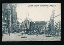 Exhibition Belgium EXPOSITION Brussels Marche Fire DISASTER damage 1910 PPC