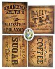 Primitive Vintage Style Country Pantry Labels, 4 Farmhouse Labels, Sticker Sheet