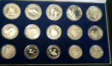 1984 15 PIECE SILVER YUGOSLAVIAN SILVER PROOF SET FOR THE SARAJEVO OLYMPIC GAMES