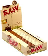 Raw 1.25 (1 1/4) Organic Hemp Rolling Paper Full Box (24 pk)