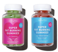 SkinnyMint Super Fat Burning Gummies - Power Up & Hunger Buster 60 Each 120 Tot