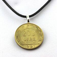 Collier pièce de monnaie Italie 200 lires