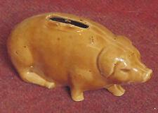 rare superbe ancienne tirelire cochon a cassé barbotine onnaing .... 19 eme