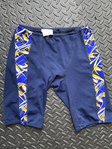 Dolfin size 32 mens jammers navy blue gold