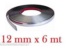 PROFILO CROMATO STRISCIA ADESIVA 3M AUTO INTERNO ESTERNO TUNING 12 mm x 6 mt