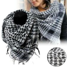 Arab Arafat Shemagh Keffiyeh Scarf Neck Wrap Military Keffiyeh Army New Black OE