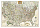 National Geographic: United States Executive Wall Map (43.5 X 30.5 ... BOOK NEW
