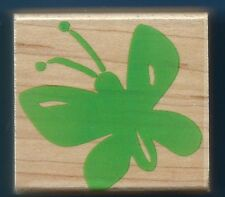 BUTTERFLY insect Entomology NEW Hero Arts E2637 Poetic Print wood Rubber Stamp