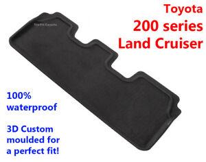 Suits Toyota 200 Series Land Cruiser 2007-2021 3D Rubber 3rd Row REAR Floor Mat