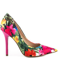 Guess Carrie Pumps Floral Pattern Pointed Closed Toe Fabric Heels Multi 8.5 NIB