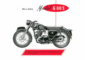 1957 Matchless G80S 500cc motorcycle poster