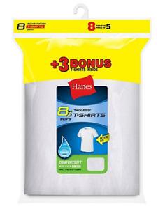 Hanes Boys' TAGLESS® Crewneck Undershirt Value Packs