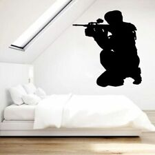 Extreme Sport Vinyl Decal Game Player Shooter Wall Sticker Paintball Decor Funny