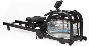 Adjustable Resistance Health Fitness Water Rowing Machine - Rower for Home Gym