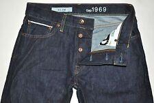 Gap 1969 Men's Dark Blue Raw SELVAGE Denim Slim Jeans 29X28 GREAT CONDITION