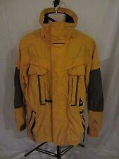 CB Sports Assualt Ski Snowboard Nylon Yellow Parka Coat Jacket - Men's Small