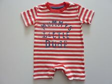 MUMMY'S Little DUDE Little Red Stripe Romper Suit First Size NWT
