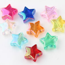 50/100Pc Acrylic Star Loose Spacer Beads Candy Color DIY Jewelry Crfts Access