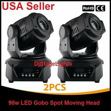 LOT DJ 90w LED LIGHTS 9 GOBO SPOT MOVING HEAD DMX512 STAGE CLUB PARTY SHOW 2 PCS